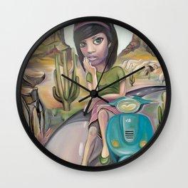 Lost road Wall Clock