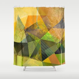 P24 Trees and Triangles Shower Curtain