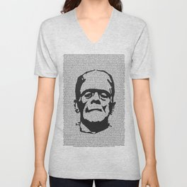 Words of Frankenstein Unisex V-Neck