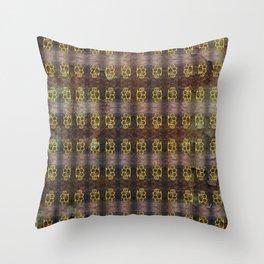 Brass Knuckles Pattern Throw Pillow