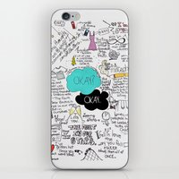 john green iPhone & iPod Skins featuring The Fault in Our Stars- John Green by Natasha Ramon