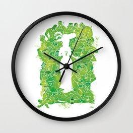Absinth white Wall Clock