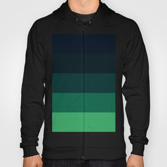 Forest Green Stripes Hoody