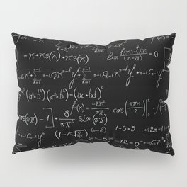 Chalk board mathematics pattern Pillow Sham