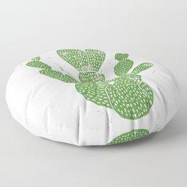 Linocut Cactus #1 Floor Pillow