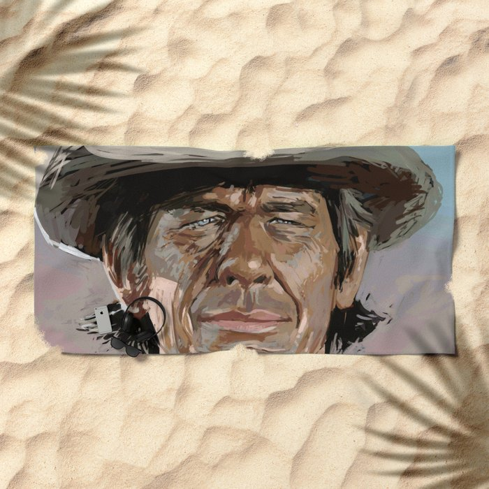 Harmonica Man Beach Towel