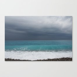 Topaz sea Canvas Print