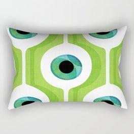 Eye Pod Green Rectangular Pillow