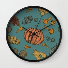 Pumpkin spice vintage colors Wall Clock