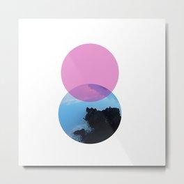 Ocean and the pink sky Metal Print