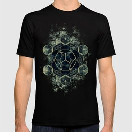 Sacred Geometry for your daily life -  Platonic Solids - ETHER T-shirt