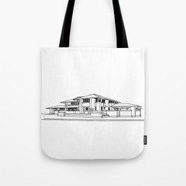 Darwin Martin House in Black & White Tote Bag