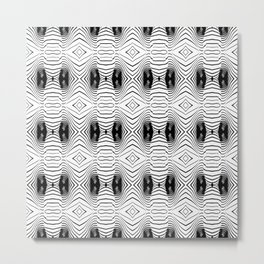 black wave lines  Metal Print