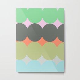 ALMA MULTICOLOR - Mid Century Modern Pattern Graphic Design Metal Print