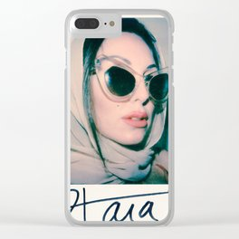 Tara glasses and headscarf Clear iPhone Case