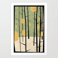 yetiland Art Prints featuring Yeti Dreams by Yetiland