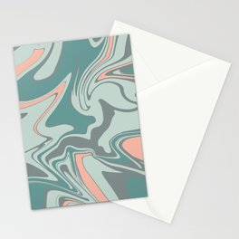 Modern turquoise Marble Design Turquoise Stationery Cards