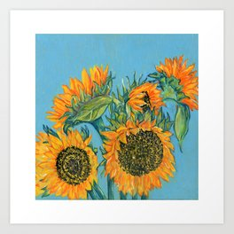 Birthday Sunflowers Art Print