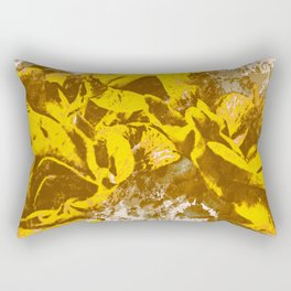 Yellow Rose Watercolor Rectangular Pillow