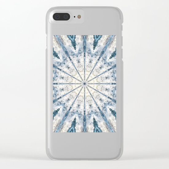 Beautiful abstract kaleidoscope of surf Clear iPhone Case