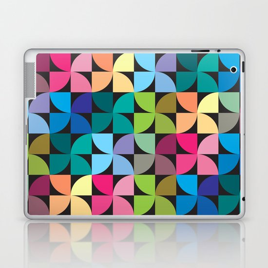 colorful semicircle pattern Laptop & iPad Skin