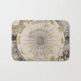 Homann - Theory of the Planets as According to Copernicus, 17th Century Bath Mat