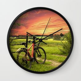 The Long Ride Home Wall Clock