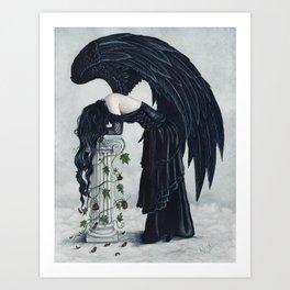 Despair Gothic Angel Art Print