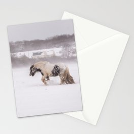 Lonely horse in the snow Stationery Cards