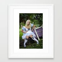 alice wonderland Framed Art Prints featuring Alice in Wonderland- Alice by Jennifer Markotay