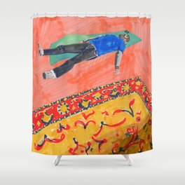 Long Day at the Office Shower Curtain