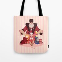 valentines Tote Bags featuring Happy Valentines  by DustyLeaves