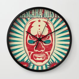 The Mysterious Mask Wall Clock