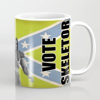 skeletor Mugs featuring Vote Skeletor by Itomi Bhaa