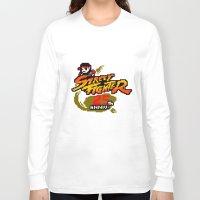 street fighter Long Sleeve T-shirts featuring street fighter 25th anniversary by Hisham Al Riyami