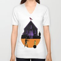 house V-neck T-shirts featuring HOUSE by MAR AMADOR