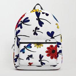 Dragonflies & Flowers Backpack