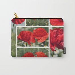 Poppies Collage Carry-All Pouch