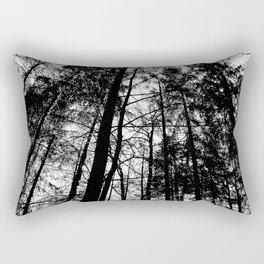 B/W Forest Rectangular Pillow