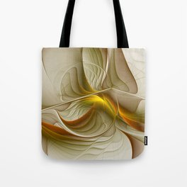 Abstract With Colors Of Precious Metals, Fractal Art Tote Bag