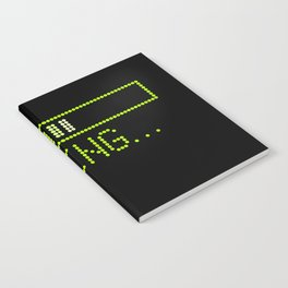Green Loading Time Bar Notebook