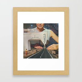 This is how a road gets made Framed Art Print