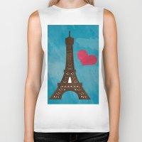 eiffel Biker Tanks featuring Eiffel by Daniela Marti