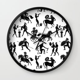 Greek Figures Wall Clock