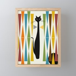 Mid-Century Modern Art Cat 2 Framed Mini Art Print