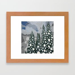 A Blue and Grey Day in Winter Framed Art Print