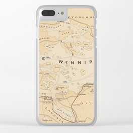 Vintage Map of Lake Winnipesaukee (1896) Clear iPhone Case