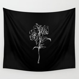 Black Primrose Wall Tapestry