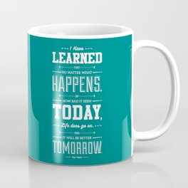 Lab No. 4 I've Learned That No Matter Maya Angelou Inspirational Quote Poster Coffee Mug