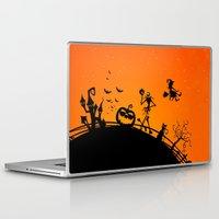 jack skellington Laptop & iPad Skins featuring Halloween Jack Skellington  by Raisya